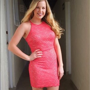 Soprano Coral lace bodycon strappy dress
